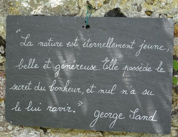 Les citations au jardin