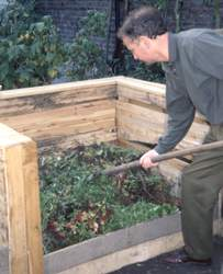 Compost : brassage et mélange
