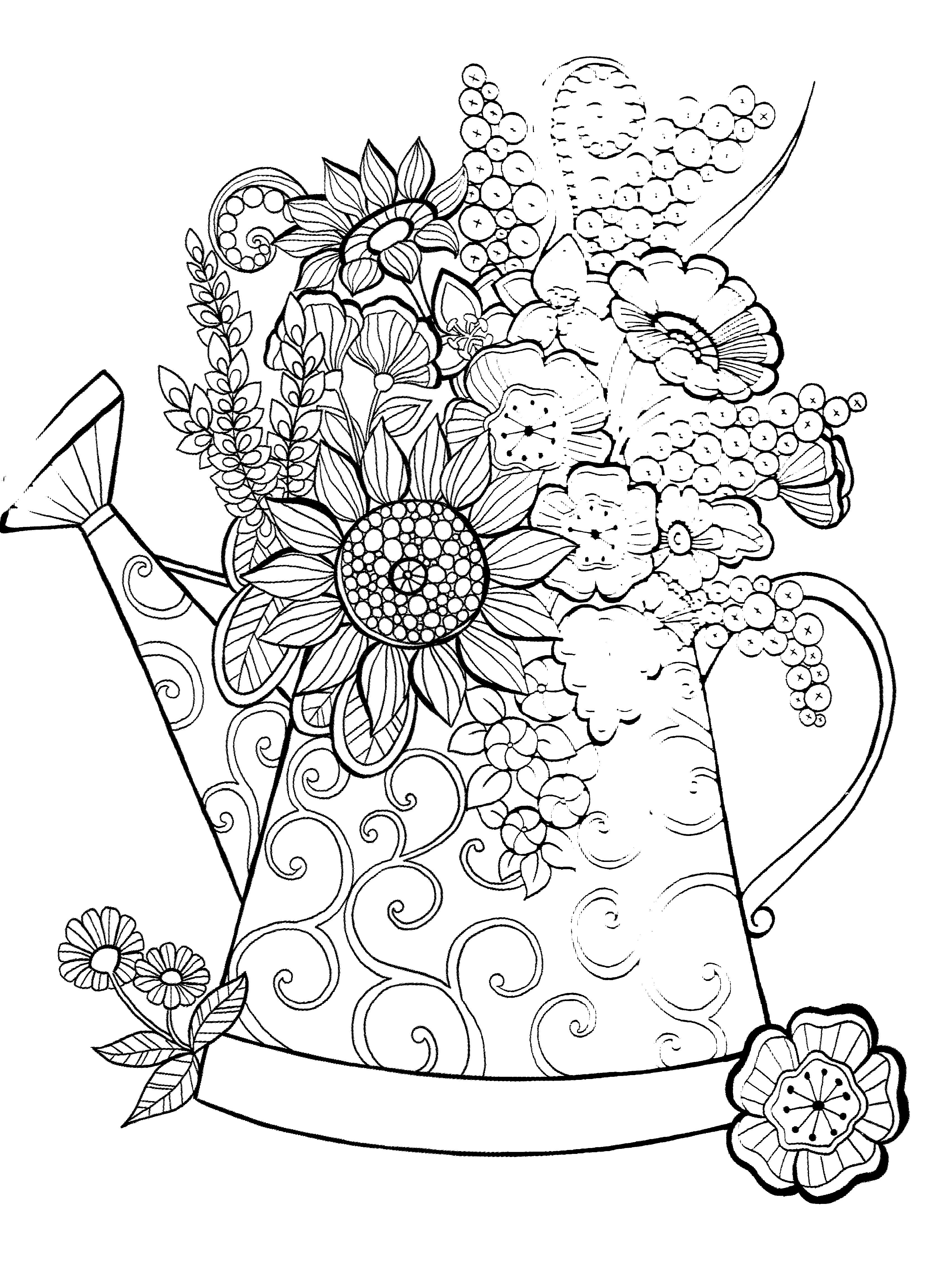 Coloriage pour enfants et adultes, mandala